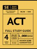 ACT Prep Premium Guide: Test Prep Study Manual, Online Video Lessons, 4 Full Length Practice Tests in Book + Online, 1,000 Realistic Questions