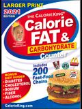 Calorieking 2021 Larger Print Calorie, Fat & Carbohydrate Counter