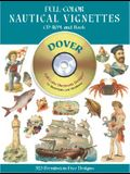 Full-Color Nautical Vignettes CD-ROM and Book [With CDROM]