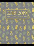 Agenda escolar 2018-2019: 190 x 235 mm: Agenda 2018-2019 semana vista español: 160 g/m² Agenda semanal 12 meses: Cactus y piñas 4503