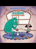 Monsters and Aliens Coloring Book: For Kids Ages 4-8