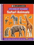 Brain Games - Sticker by Number: Safari Animals: A Kid's Sticker Activity Book with More Than 150 Stickers! [With Sticker(s)]