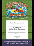 Vacation Bible School (Vbs) 2018 Rolling River Rampage Student Certificates (Pkg of 48): Experience the Ride of a Lifetime with God!