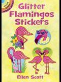 Glitter Flamingos Stickers
