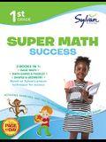 1st Grade Jumbo Math Success Workbook: 3 Books in 1--Basic Math, Math Games and Puzzles, Shapes and Geometry; Activities, Exercises, and Tips to Help