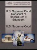 U.S. Supreme Court Transcript of Record Sim V. Edenborn