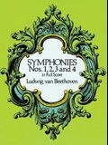 Symphonies Nos. 1, 2, 3 and 4 in Full Score