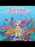 Sirena libro de colorear: Libro de colorear para niños de 4-8, 9-12 años