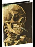 Head of a Skeleton with a Burning Cigarette by Vincent Van Gogh, Skull Best Mini Notebook with Dot Grid Pages and Lay Flat Technology