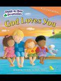 God Loves You Peekaboo