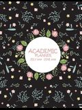 Academic Planner July 2019-June 2020: Cute Flower, Calendar Book July 2019-June 2020 Weekly/Monthly/Yearly Calendar Journal, Large 8.5 X 11 365 Daily