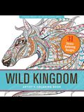 Wild Kingdom Adult Coloring Book (31 Stress-Relieving Designs)