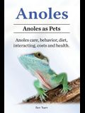 Anoles. Anoles as Pets. Anoles care, behavior, diet, interacting, costs and health.