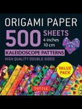 Origami Paper 500 Sheets Kaleidoscope Patterns 4 (10 CM): Tuttle Origami Paper: High-Quality Double-Sided Origami Sheets Printed with 12 Different Pa