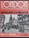 London Grayscale: Adult Coloring Book