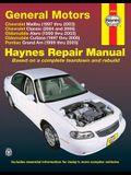 General Motors: Chevrolet Malibu (1997 Thru 2003) Chevrolet Classic (2004 and 2005) Oldsmobile Alero (1999 Thru 2003) Oldsmobile Cutla