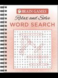 Brain Games - Relax and Solve: Word Search (Coral)