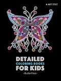 Detailed Coloring Books For Kids: Butterflies: Black Background Designs For Older Kids; Relaxing Zendoodle Butterflies & Butterfly Patterns; Midnight
