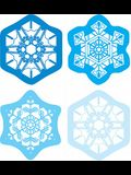 Snowflakes Shape Stickers