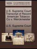U.S. Supreme Court Transcript of Record American Tobacco Co V. Werckmeister