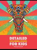 Detailed Coloring Books For Kids: Elephants: Advanced Coloring Pages for Teenagers, Tweens, Older Kids, Boys & Girls, Detailed Zendoodle Animal Design