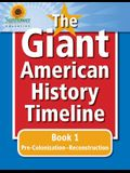 The Giant American History Timeline: Book 1: Pre-Colonization-Reconstruction