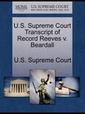 U.S. Supreme Court Transcript of Record Reeves V. Beardall