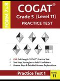 COGAT Grade 5 Level 11 Practice Test Form 7 And 8: CogAT Test Prep Grade 5: Cognitive Abilities Test Practice Test 1
