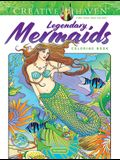 Creative Haven Legendary Mermaids Coloring Book