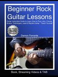 Beginner Rock Guitar Lessons: Guitar Instruction Guide to Learn How to Play Licks, Chords, Scales, Techniques, Lead & Rhythm Guitar, Basic Music The