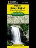 Pisgah Ranger District, Pisgah National Forest, North Carolina, USA Outdoor Recreation Map