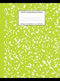 Marble Composition Notebook College Ruled: Green Marble Notebooks, School Supplies, Notebooks for School
