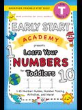 Early Start Academy, Learn Your Numbers for Toddlers: (Ages 3-4) 1-10 Number Guides, Number Tracing, Activities, and More! (Backpack Friendly 6x9 Size