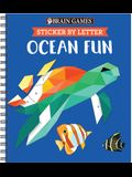 Brain Games - Sticker by Letter: Ocean Fun (Sticker Puzzles - Kids Activity Book) [With Sticker(s)]