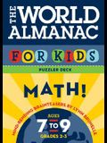 World Almanac for Kids Puzzler Deck: Math: Ages 7-9, Grades 2-3