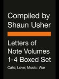 Letters of Note Volumes 1-4 Boxed Set: Cats; Music; Love; War