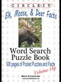 Circle It, Elk, Moose, and Deer Facts, Pocket Size, Word Search, Puzzle Book