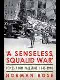 A Senseless, Squalid War: Voices from Palestine 1945-1948