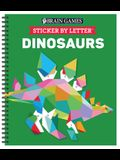 Brain Games - Sticker by Letter: Dinosaurs (Sticker Puzzles - Kids Activity Book) [With Sticker(s)]