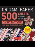 Origami Paper 500 Sheets Cherry Blossoms 4 (10 CM): Tuttle Origami Paper: High-Quality Double-Sided Origami Sheets Printed with 12 Different Patterns