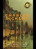 The Charles Dickens Collection (Deluxe Library Binding): (3 Books) A Tale of Two Cities, Great Expectations, and A Christmas Carol
