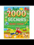 2000 Stickers Busy Farm Activity Book: 36 Fun and Friendly Activities!
