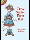 Cow Sticker Paper Doll