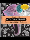 Color & Frame - Animals (Adult Coloring Book)