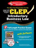 CLEP(R) Introductory Business Law with CD [With CDROM]