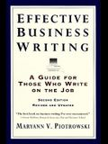 Effective Business Writing: Strategies, Suggestions and Examples