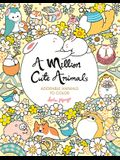A Million Cute Animals: Adorable Animals to Color