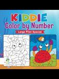 Kiddie Color by Number Large Print Special