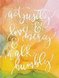 ACT Justly, Love Mercy, and Walk Humbly Hardcover Journal: Journal