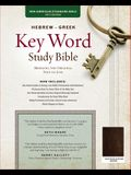 The Hebrew-Greek Key Word Study Bible: Nasb-77 Edition, Brown Genuine Goatskin